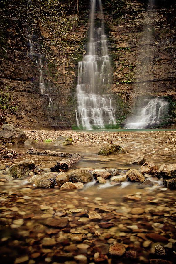 Landscape Photograph - Rocks And Waterfalls by Iris Greenwell