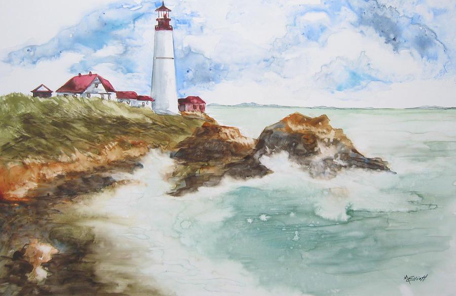 Rocky Painting - Rocky Coast by Marsha Elliott