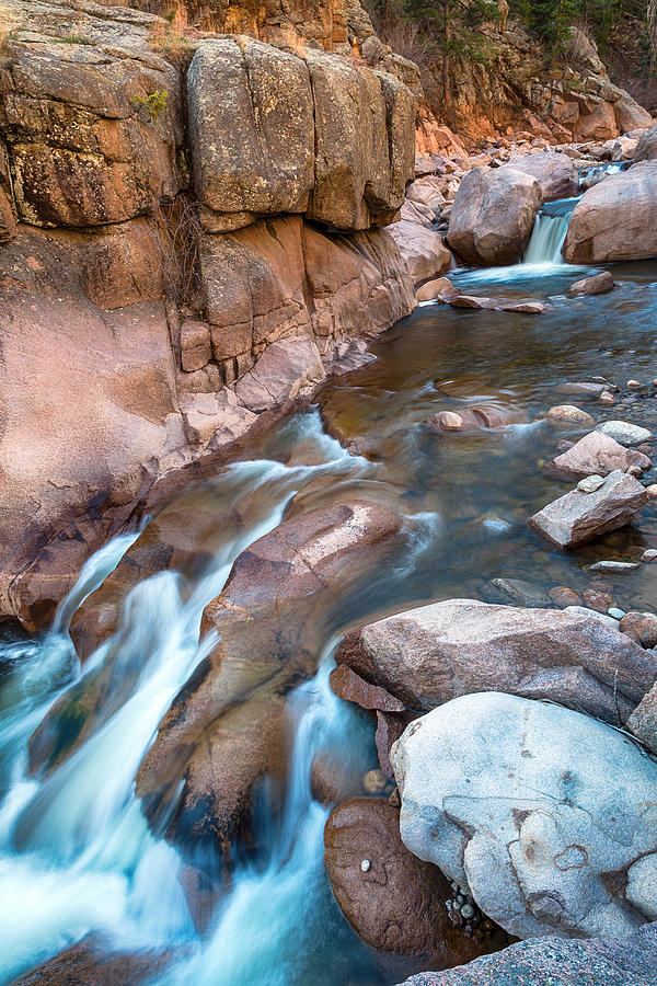 Rocky Mountain Canyon Streaming Photograph