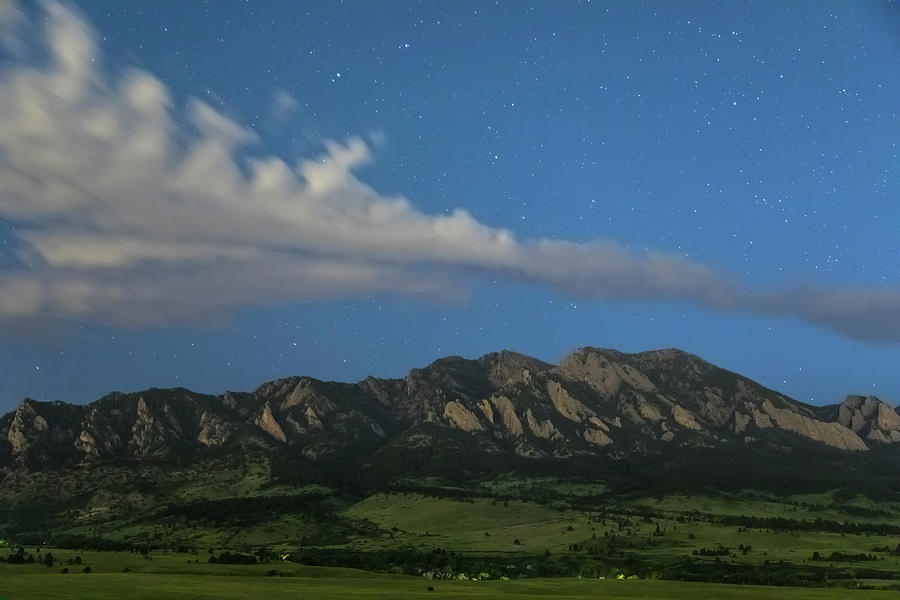 Rocky Mountain Foothills Starlight View Photograph