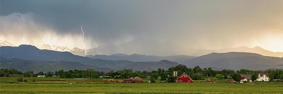 Rocky Mountain Storming Panorama Photograph