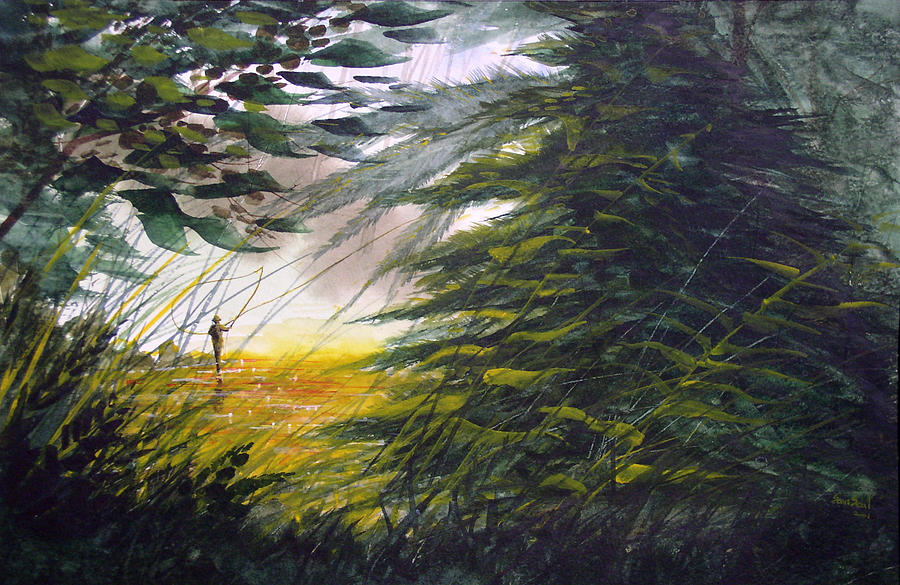 Rocky Stream Painting