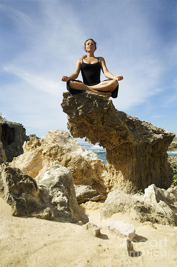 Attract Photograph - Rocky Yoga by Kicka Witte - Printscapes