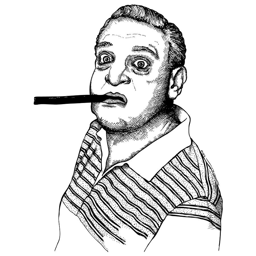Drawing Drawing - Rodney Dangerfield by Karl Addison
