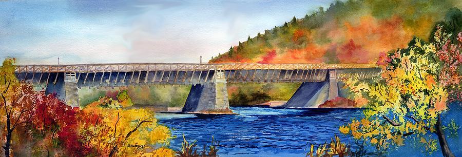Landscape Painting - Roebling Aqueduct Bridge by Paul Temple