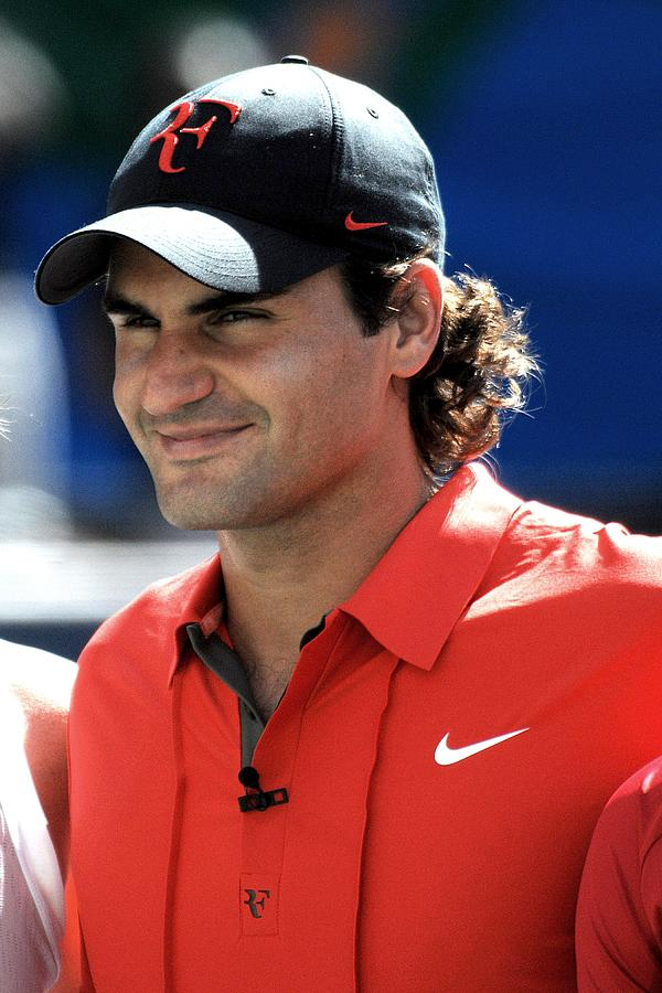 Arthur Ashe Kids Day At The Us Open Tennis Tournament Photograph - Roger Federer In Attendance For Arthur by Everett