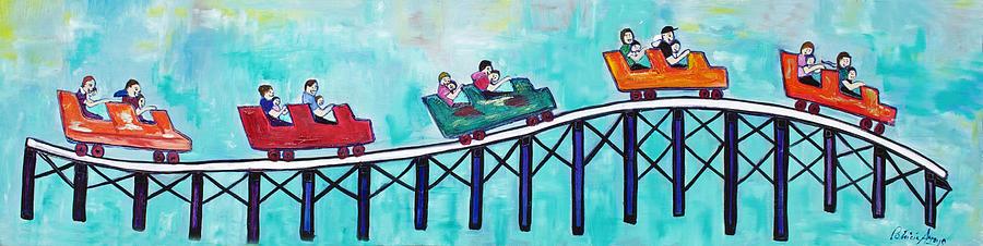 Memorabilia Painting - Roller Fun by Patricia Arroyo