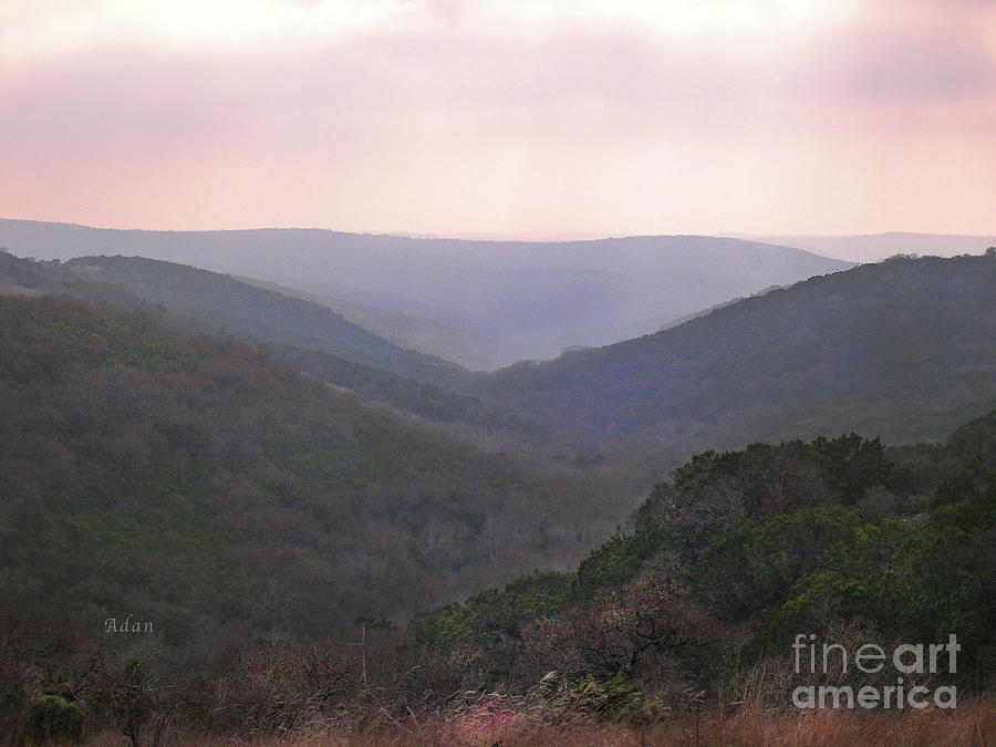 Hill Country Photograph - Rolling Hill Country by Felipe Adan Lerma