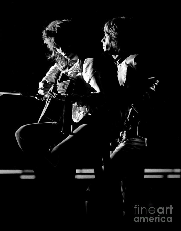 Rolling Stones Mick And Keith 1970 Photograph