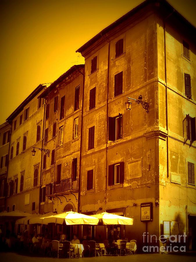 Roman Cafe With Golden Sepia 2 Photograph