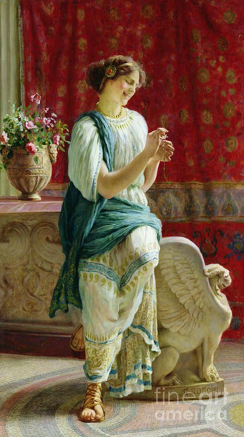 Roman Girl Painting