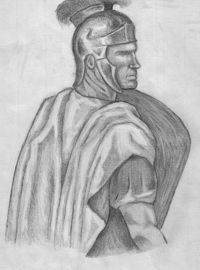 Roman Drawing by Jeremiah Cook
