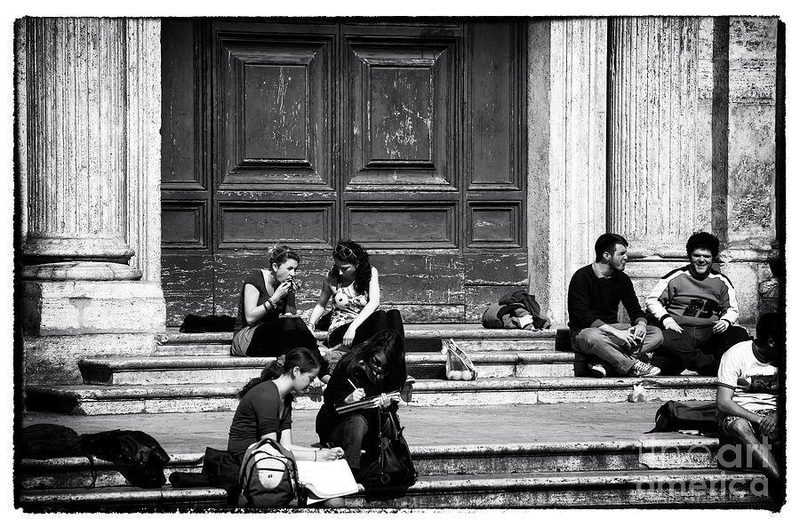 Roman Study Break Photograph