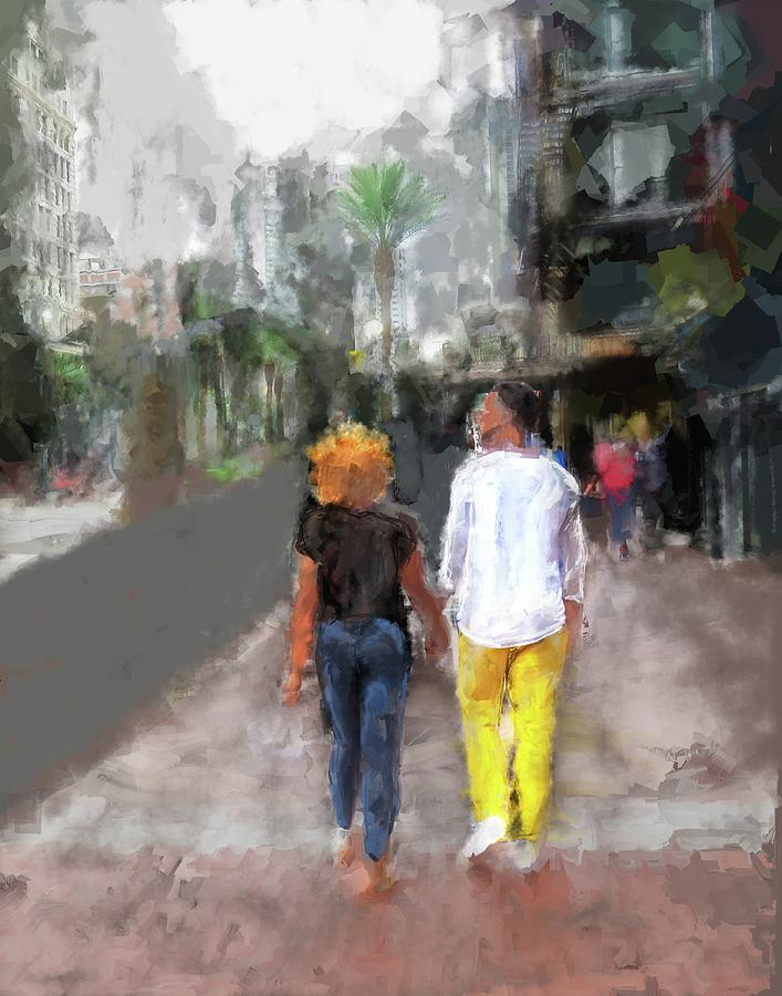 Romantic Couple Digital Art