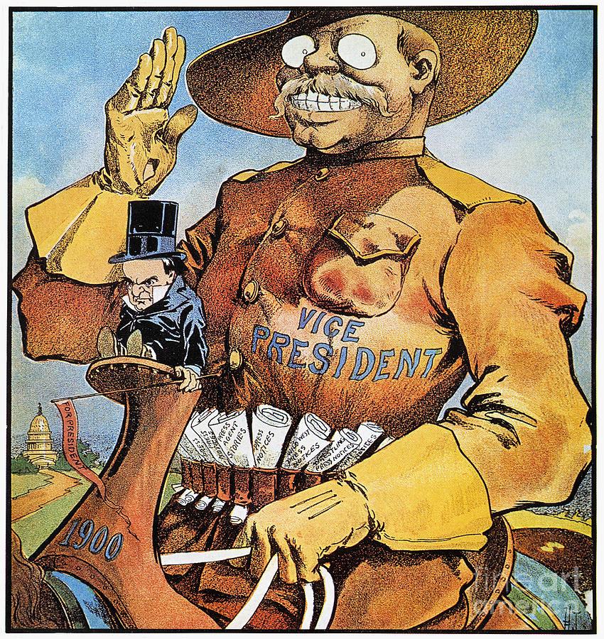 Roosevelt/mckinley Cartoon Photograph