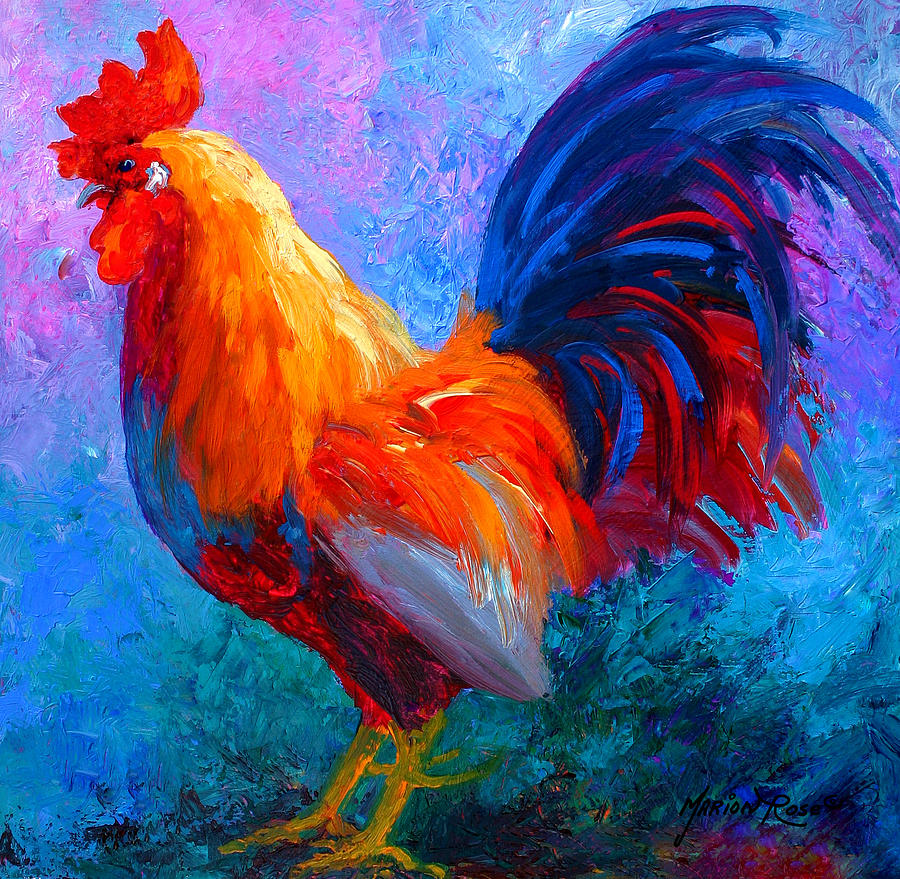 Rooster Painting - Rooster Bob by Marion Rose