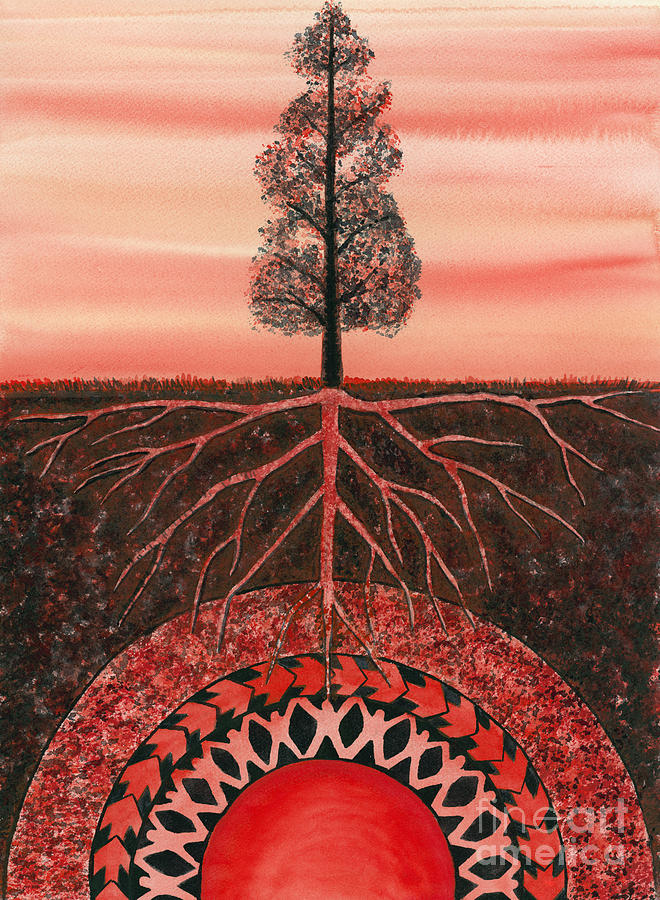 Chakra Painting - Root Chakra by Catherine G McElroy