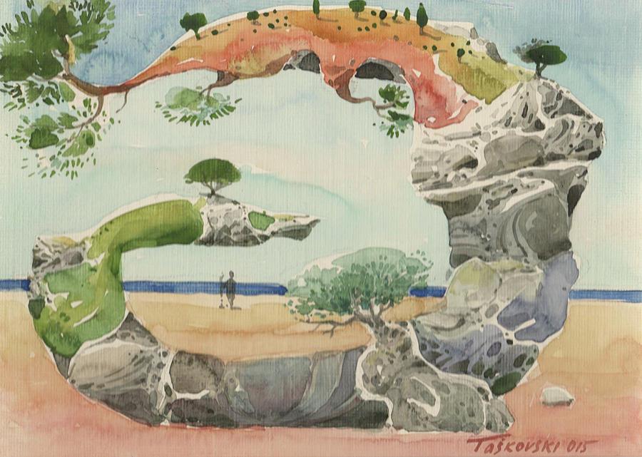 Root Landscaping : Landscape painting root by vasko taskovski