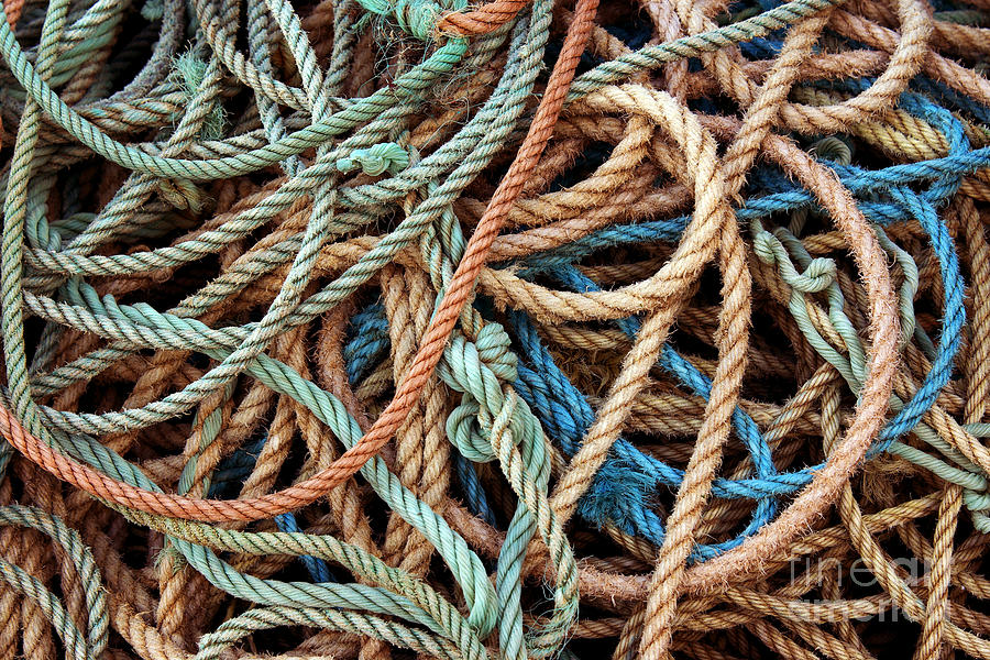 Abstract Photograph - Rope Background by Carlos Caetano