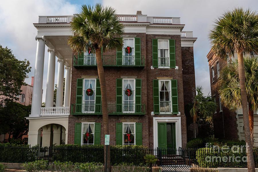 Roper Mansion In December Photograph