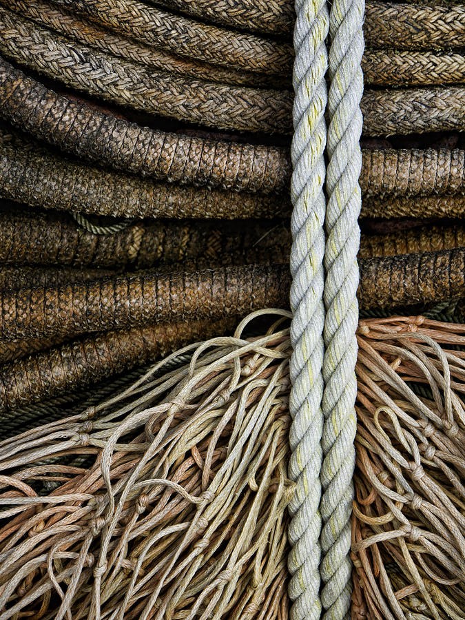 Fishing Photograph - Ropes And Fishing Nets by Carol Leigh