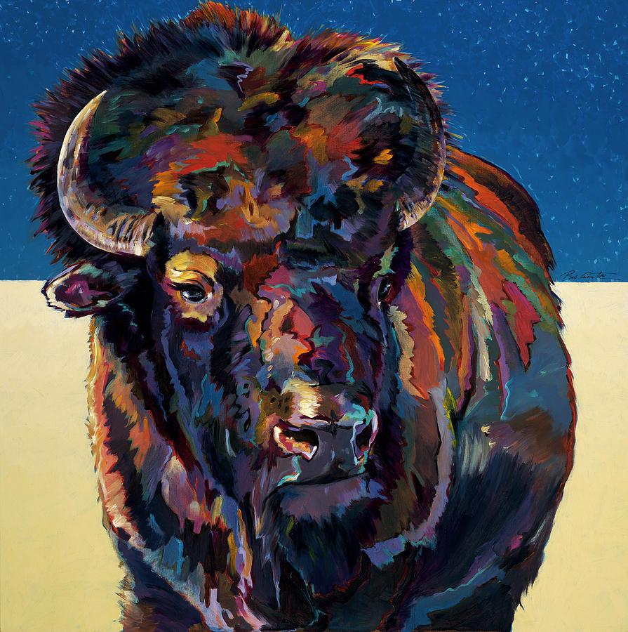American Buffalo Painting - Rosebud by Bob Coonts