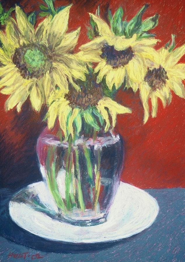 Floral Still Life Painting - Rosemarys Gift by Dolores Holt