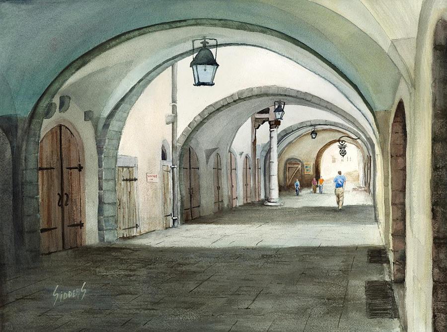 Germany Painting - Rothenburg Backstreet by Sam Sidders