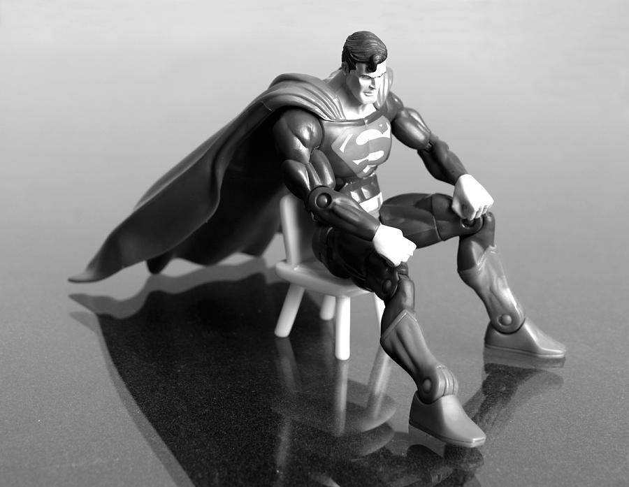 Superman Photograph - Rough Day by Andy Mulle