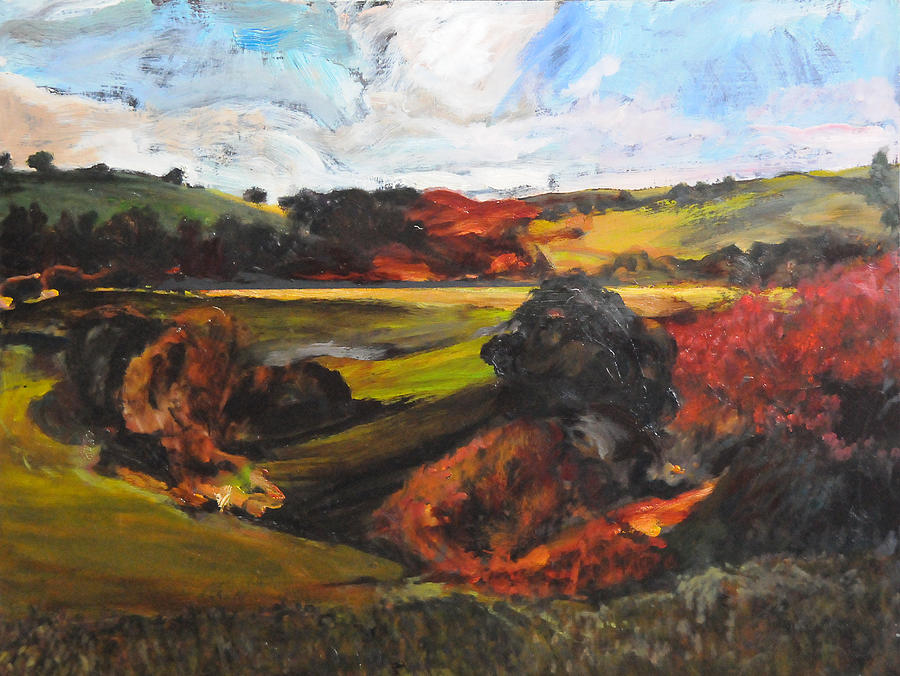 Landscape Painting - Rough Sketch By Rhug by Harry Robertson