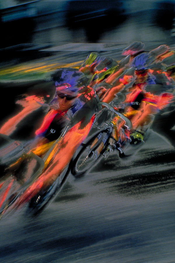 Cycling Photograph - Rounding The Corner by Rod Kaye