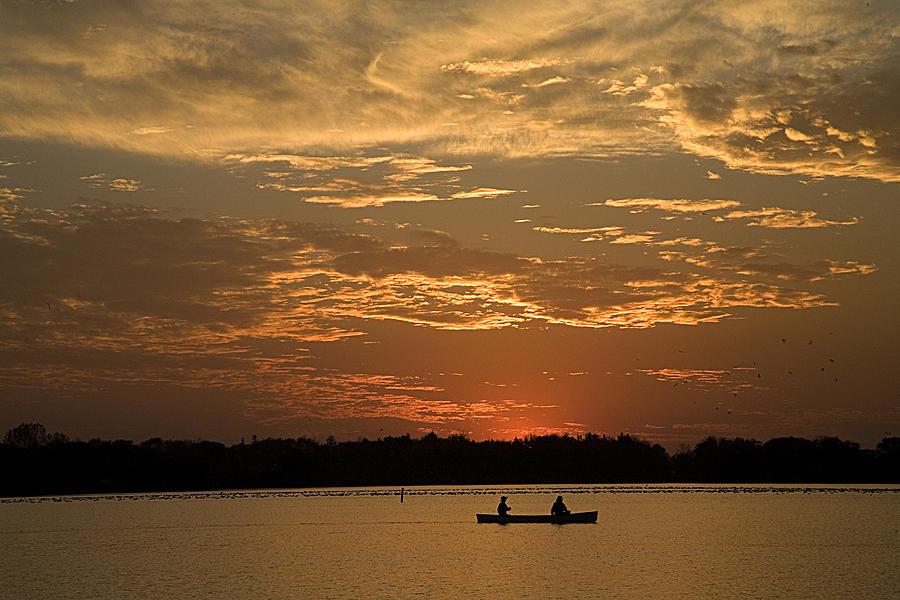 Canoe Photograph - Row Row Row Your Canoe by Theo Tan