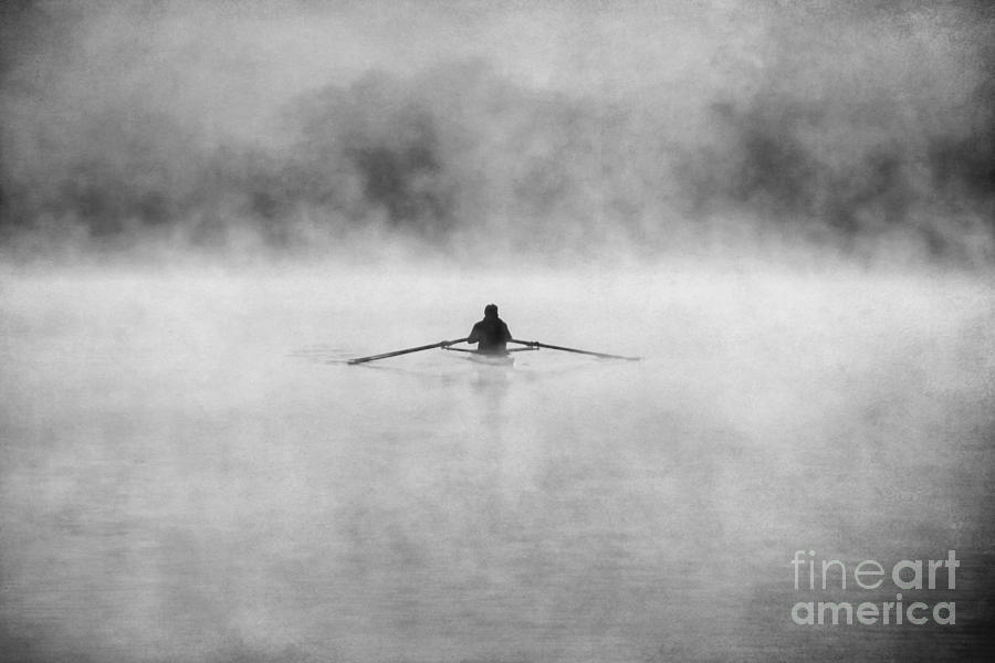 Action Photograph - Rowing On The Chattahoochee by Darren Fisher