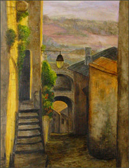 France Painting - Ruelle On Provence by Margot Koefod