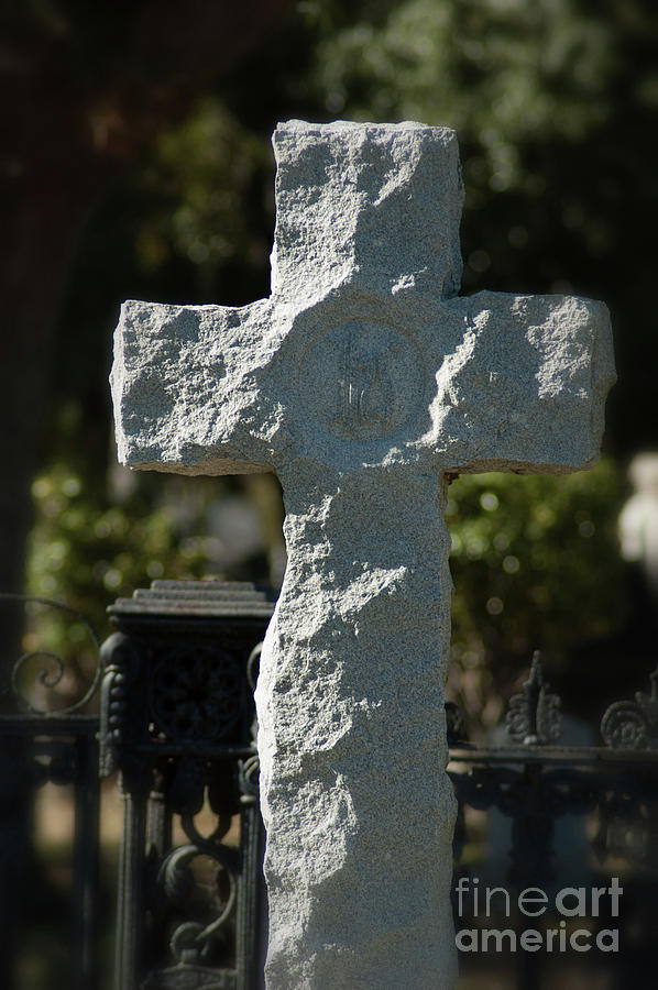 Ruged Stone Cross Photograph