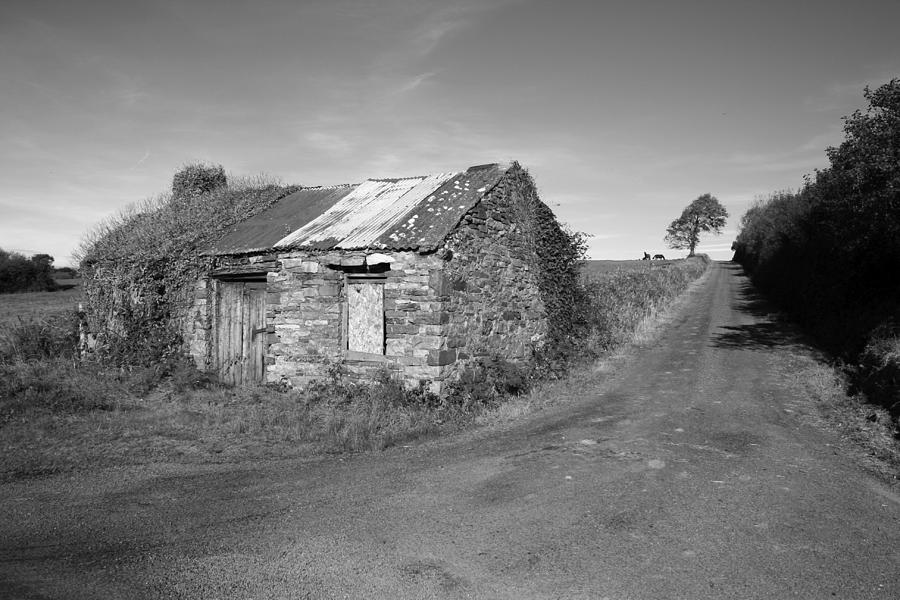 Cottage Photograph - Ruined Irish Cottage by John Quinn