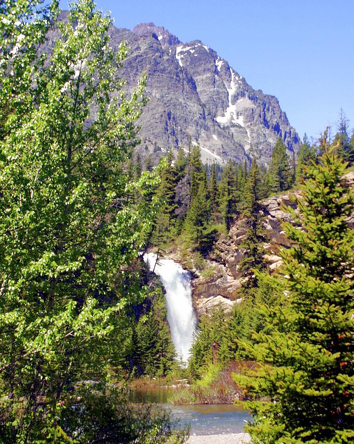 Waterfalls Photograph - Running Eagle Falls Glacier National Park by Marty Koch