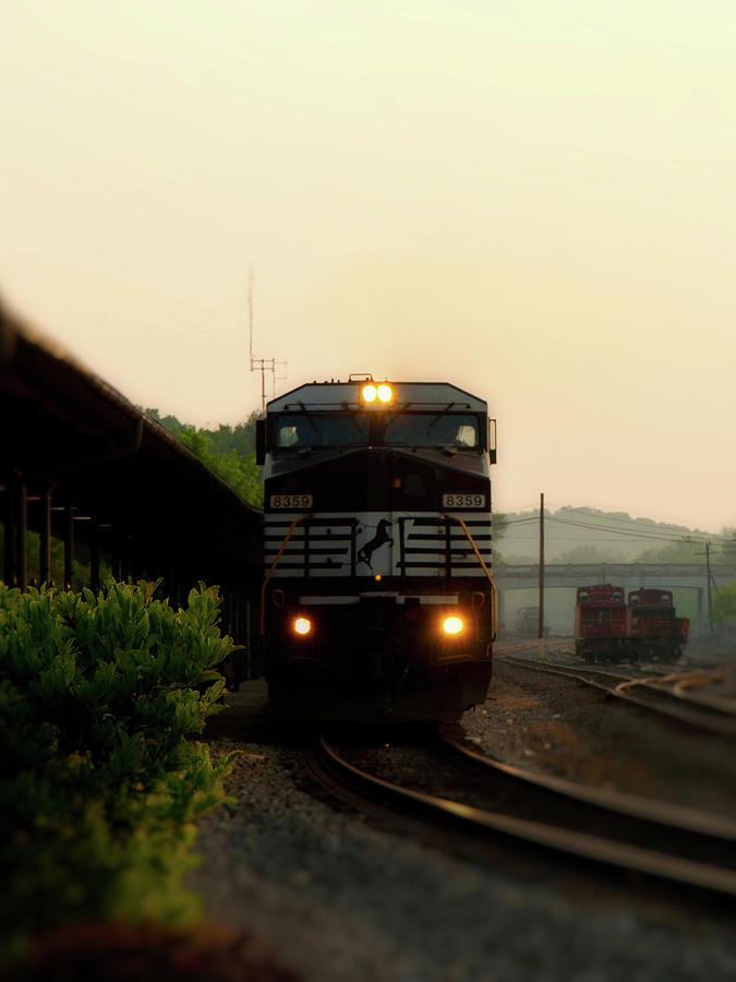 Train Photograph - Running On Schedule by Denise Beverly