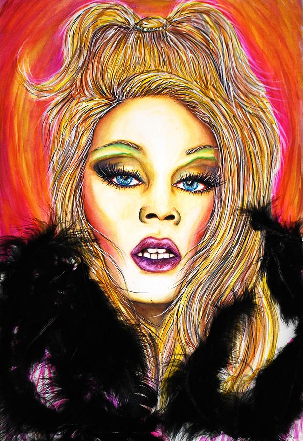 Blond Mixed Media - Rupaul by Joseph Lawrence Vasile