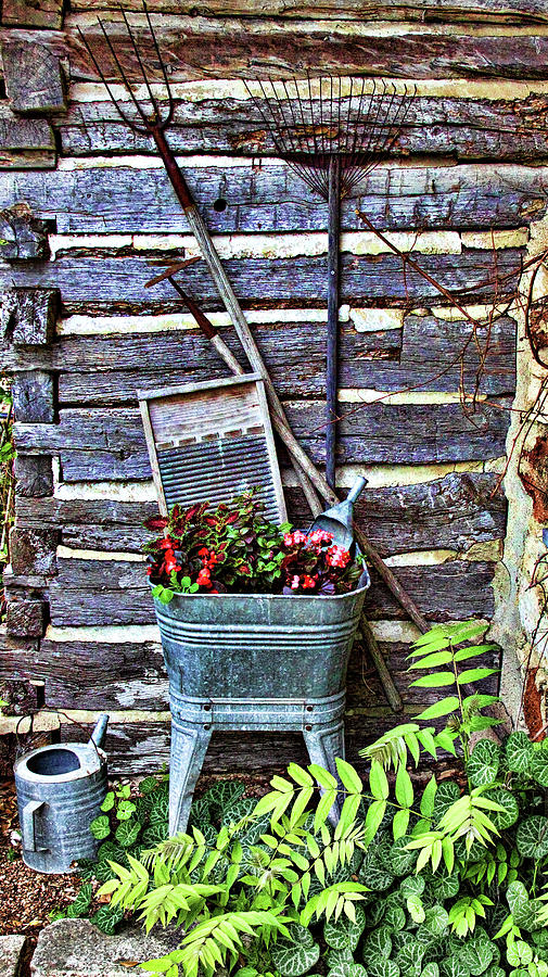 Creative Photograph - Rural American Graden Scene by Linda Phelps