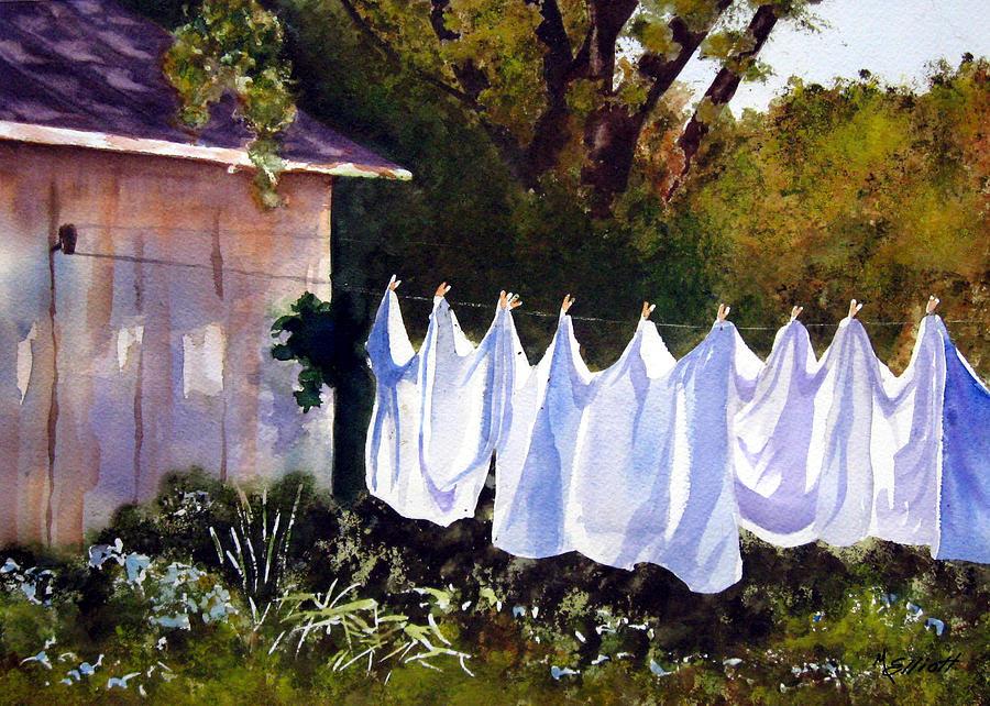 Country Painting - Rural Laundromat by Marsha Elliott