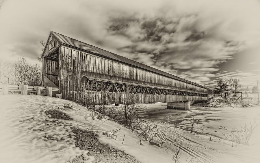 Covered Bridge  Photograph - Rusagonish Covered Bridge by Jason Bennett