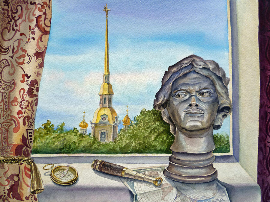 St.petersburg Painting - Russia Saint Petersburg by Irina Sztukowski