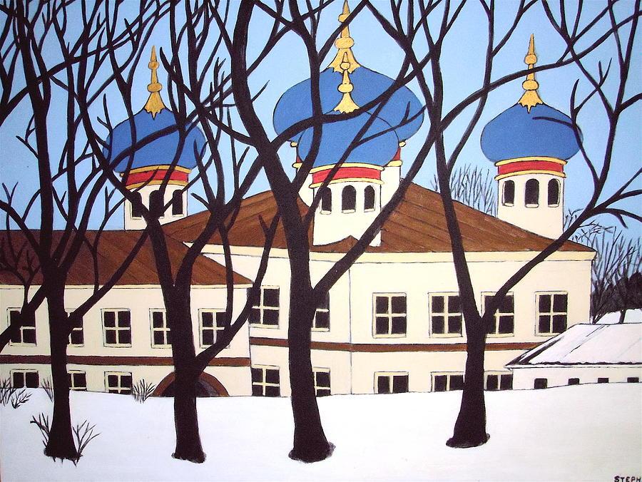 Church Painting - Russian Orthodox Church by Stephanie Moore