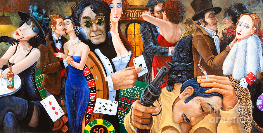 Colorful Paintings Painting - Russian Roulette by Igor Postash