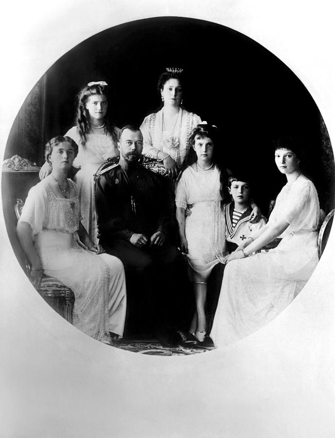 Russian Royal Family Left To Right Photograph