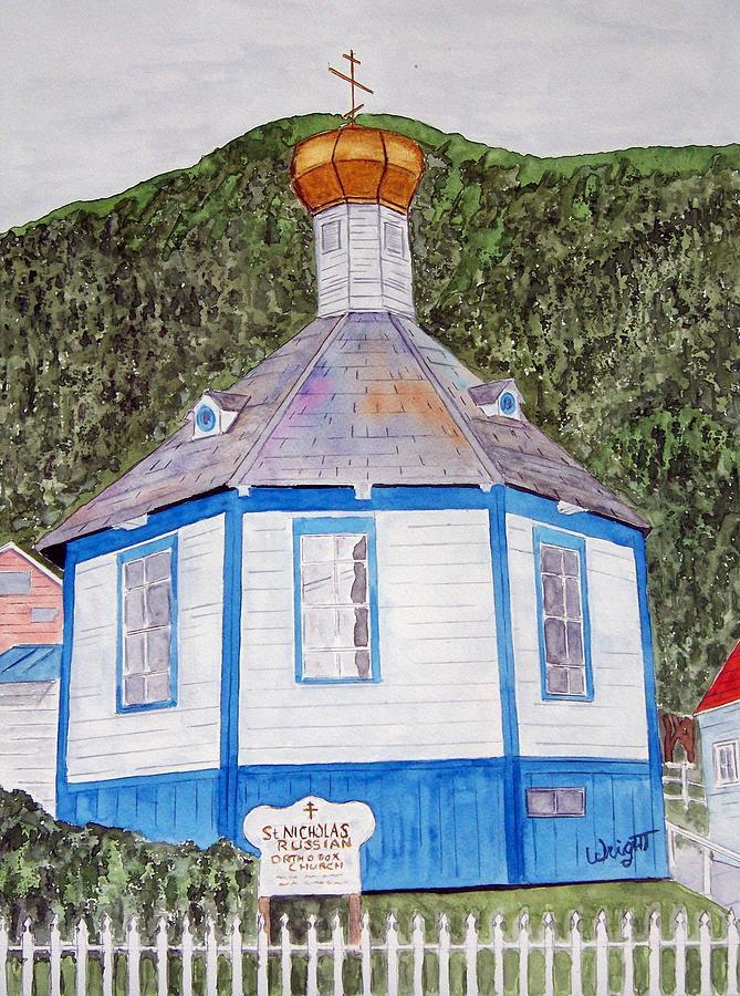 Russians In Alaska Painting