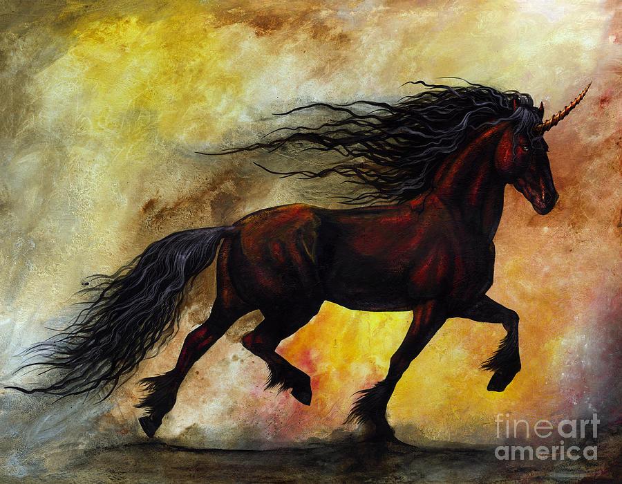 Rust Unicorn Painting