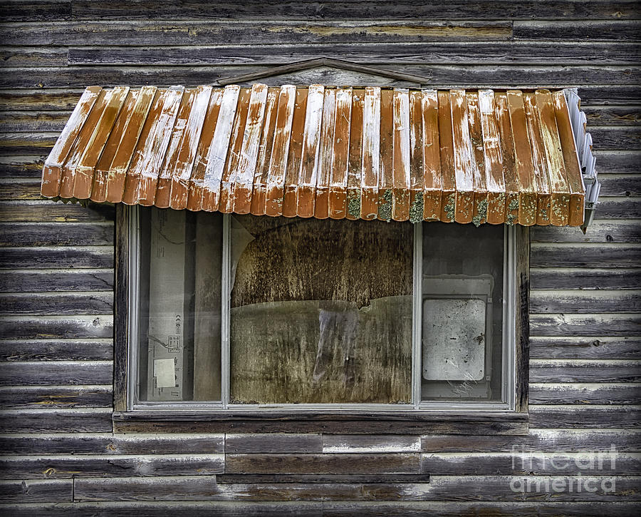 Rusty Window Awning Photograph by Walt Foegelle