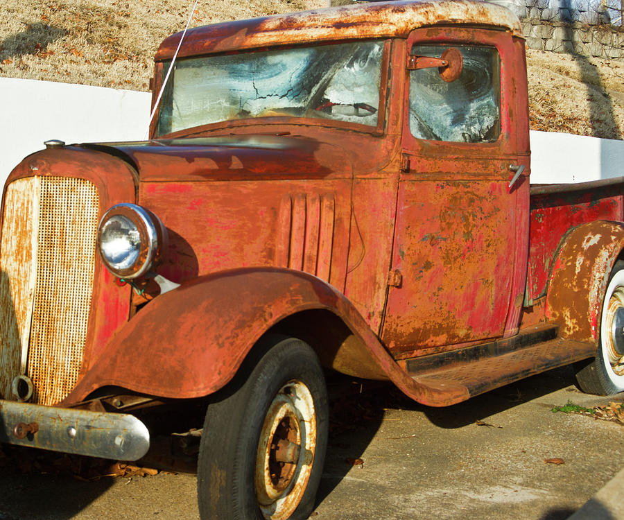 Rusty Chevrolet Pickup Truck 1934 Photograph